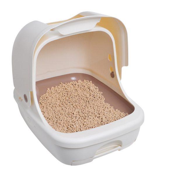 全封闭猫砂盆-正侧面-有砂2 副本